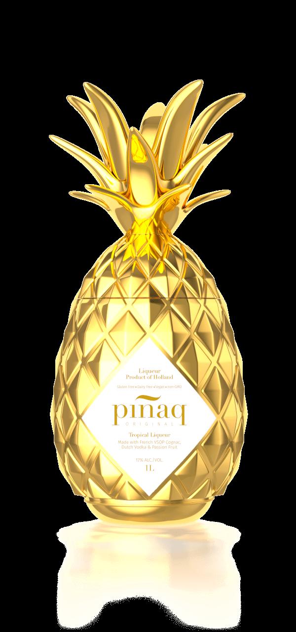 Pinaq original Gold liqueur avec cognac français www.luxfood-shop.fr