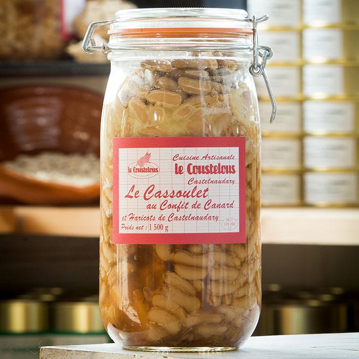 Cassoulet de Castelnaudary Bocal de 1,5kg - Le Coustelous