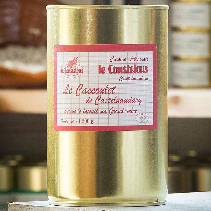 CASSOULET DE CASTELNAUDARY BOITE 1,2KG 2PERS - Le Coustelous