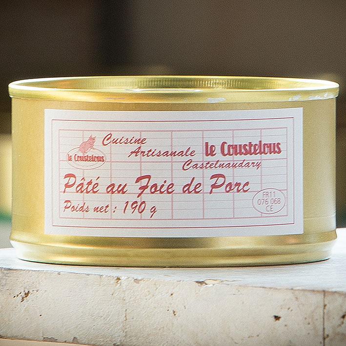 PATE FOIE DE PORC boite 190g - Le Coustelous