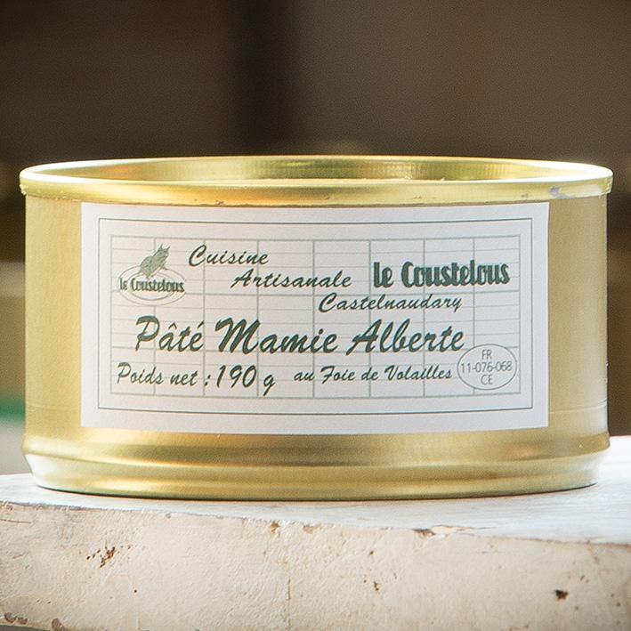PATE FOIE DE VOLAILLES 33% recette Mamie Alberte 190g - Le Coustelous