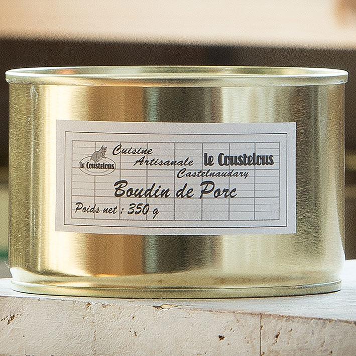 BOUDIN PORC A LA VIANDE 350g - Le Coustelous