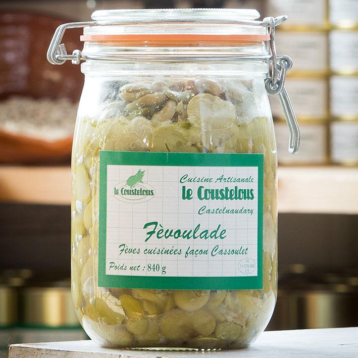 FEVOULADE, fèves cuisinées façon Cassoulet 840g - Le Coustelous