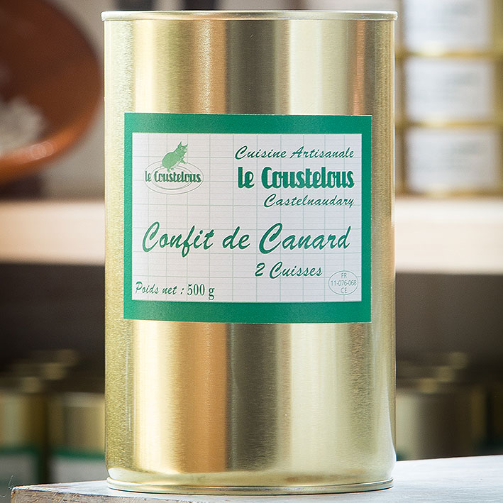 CONFIT DE CANARD 2 cuisses 500g - Le Coustelous