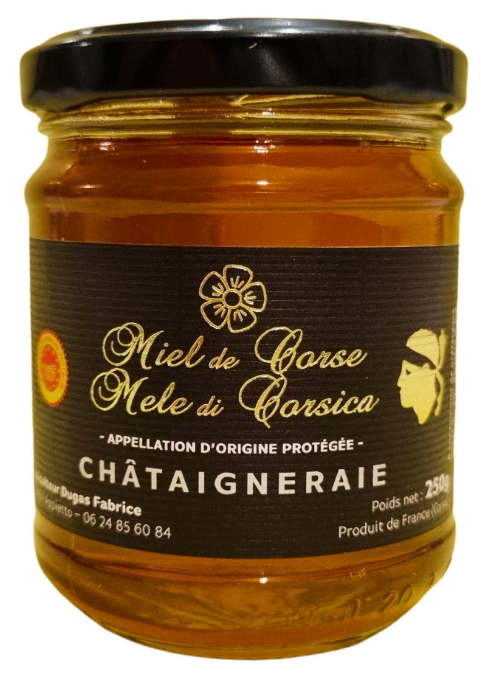Miel de Châtaigneraie de Corse AOP-AOC 250g - Fabrice Dugas