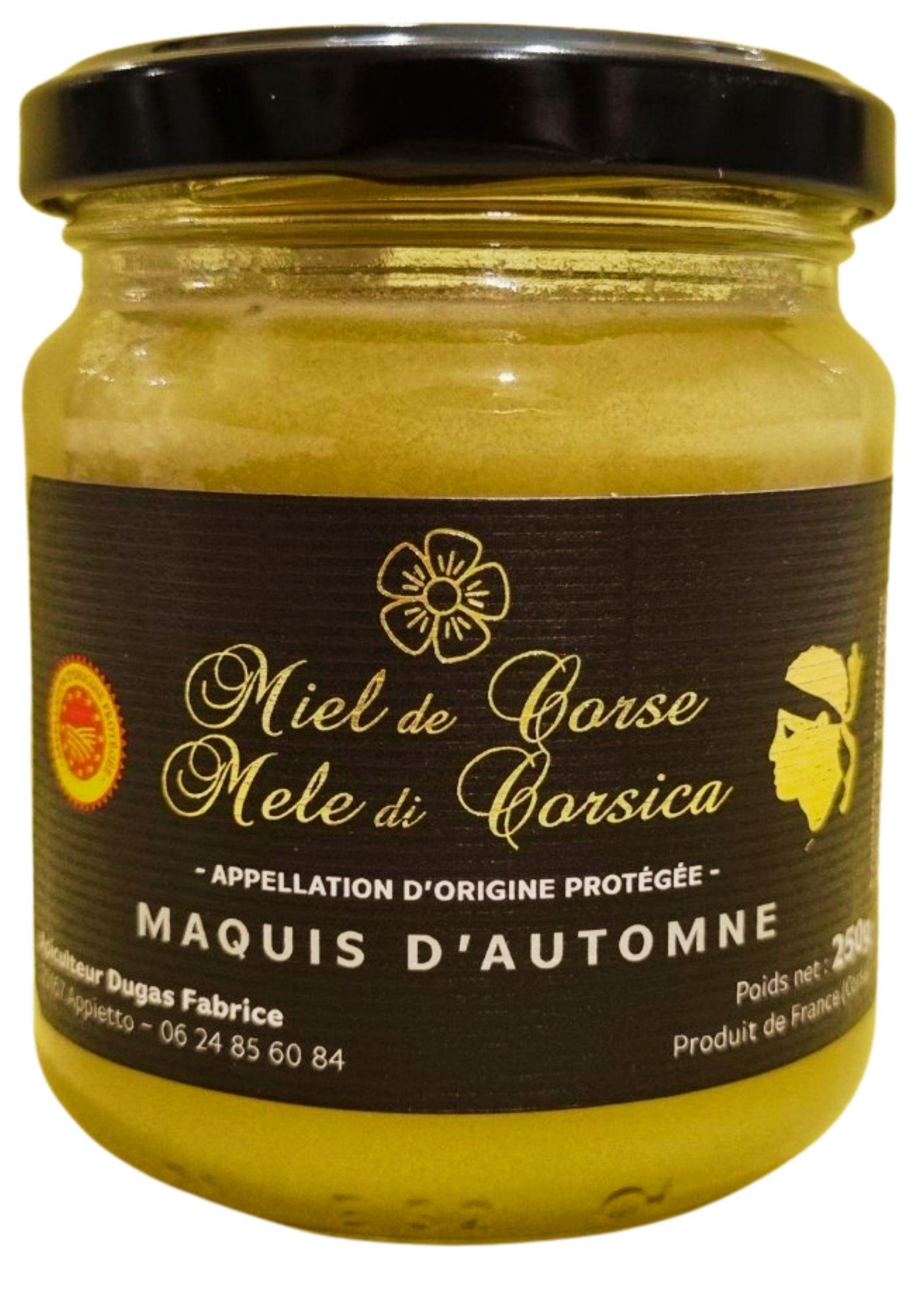 Miel de Maquis d\' automne de Corse AOP-AOC 250g - Fabrice Dugas