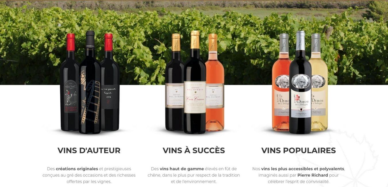 vins pierre richard domaine de l eveque www luxfood shop fr
