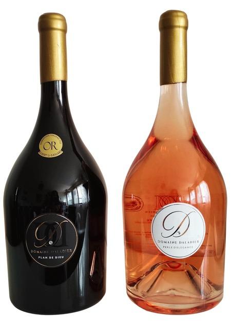 Lot 2 Magnums Vin Domaine Daladier Haute valeur environnementale - Rouge + Rosé - Edition Limitée