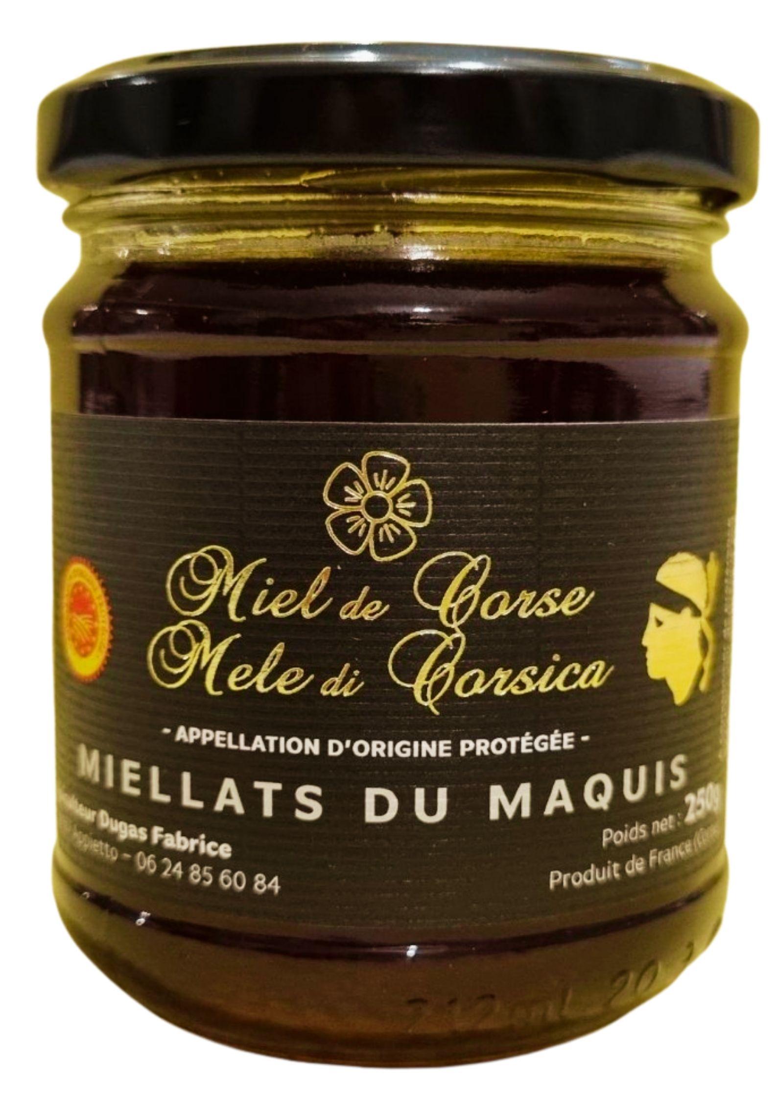 Miellats du Maquis miel de Corse AOP-AOC 250g - Fabrice Dugas