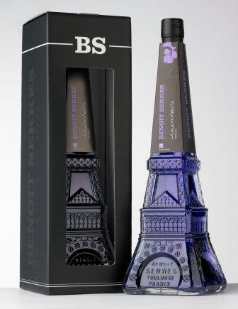 Liqueur a la violette Benoit Serres - série spéciale bouteille Tour Eiffel