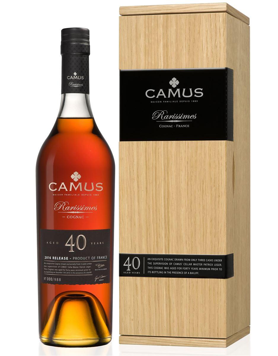 Cognac CAMUS 40 ans d\' âge RARISSIMES brun