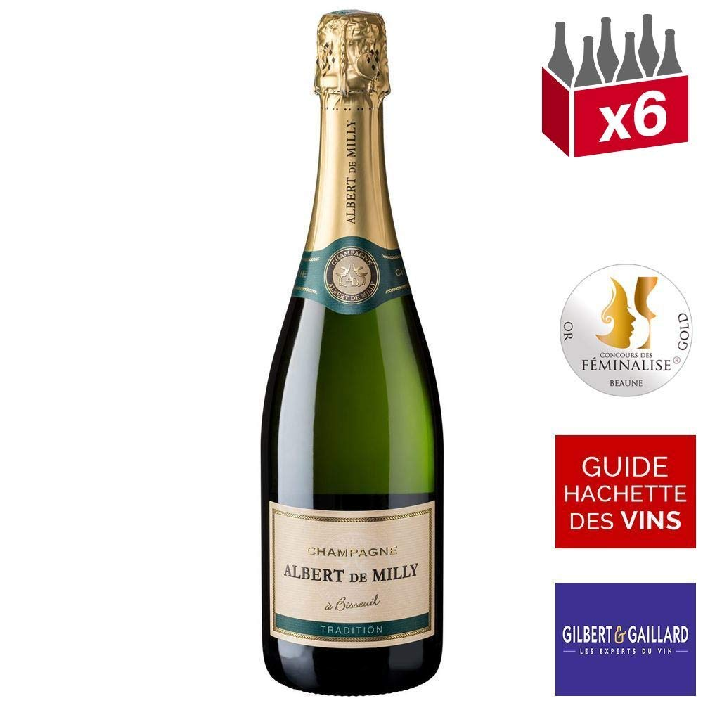 Champagne Albert de Milly Tradition blanc 6x75 cl