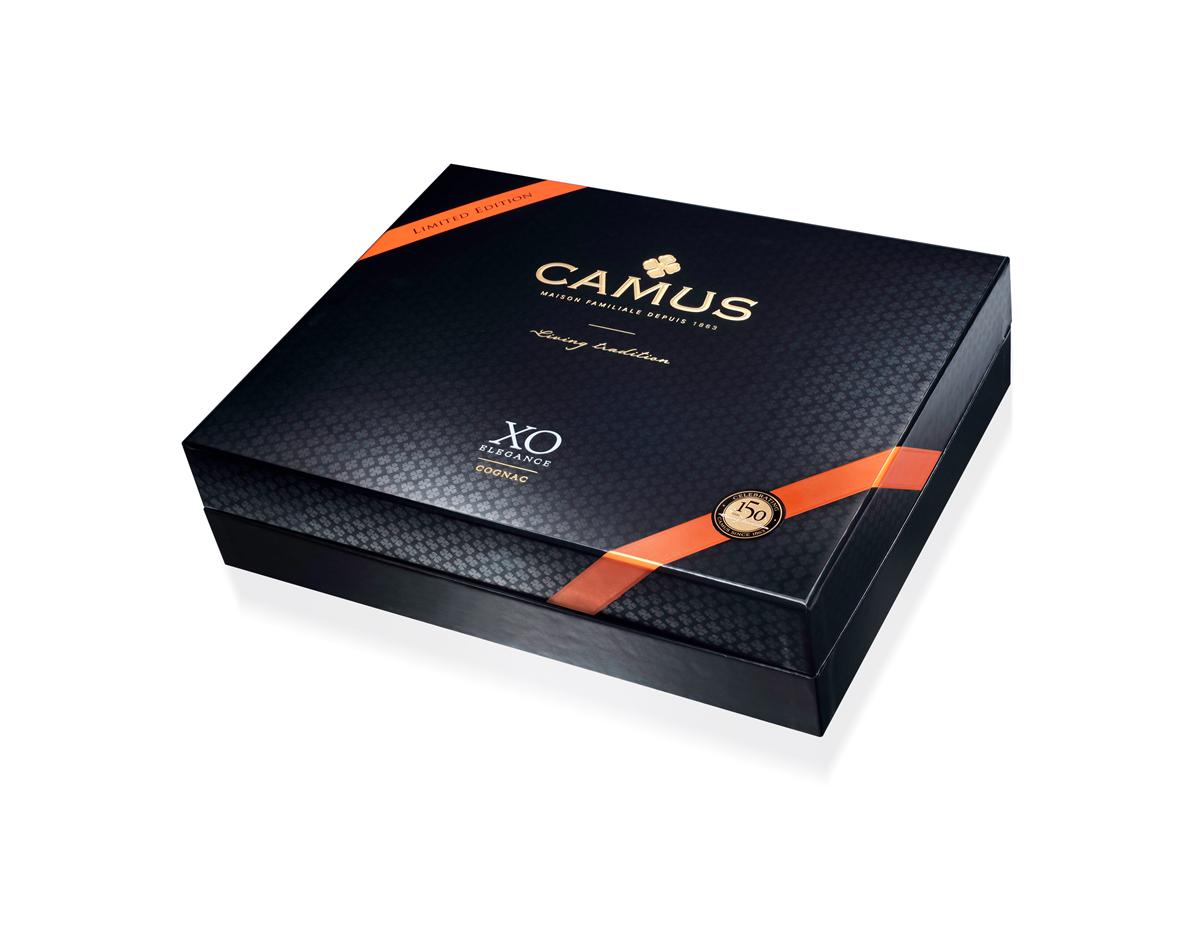 CAMUS XO ELÉGANCE - Cognac AOP + 2 verres - Coffret cadeau