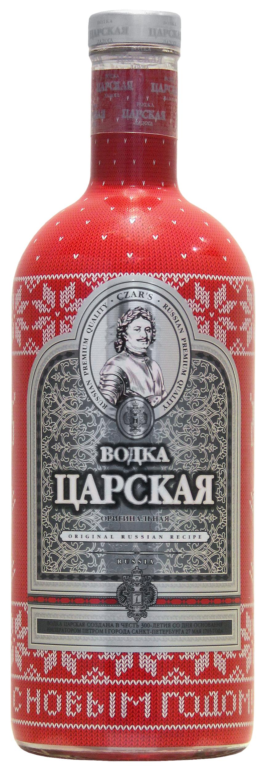 Vodka Tsarskaya Original Rouge 1L Série Spéciale Noël