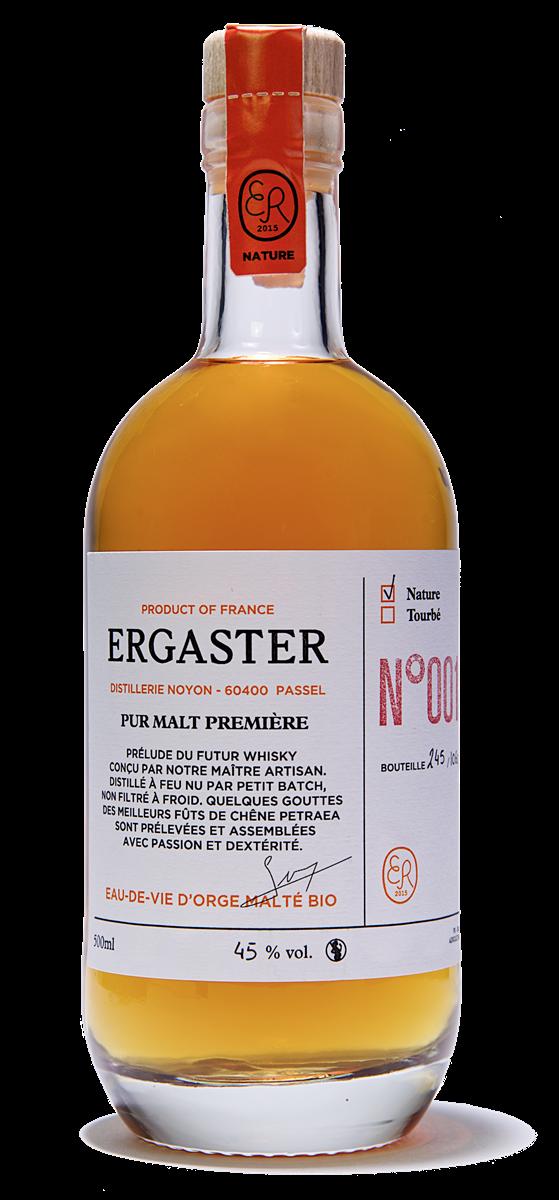 Whisky Ergaster Nature Pur Malt Première BIO Lot 005. www.luxfood-shop.fr
