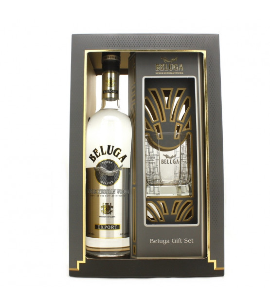 Coffret Vodka Beluga Noble 1 verre