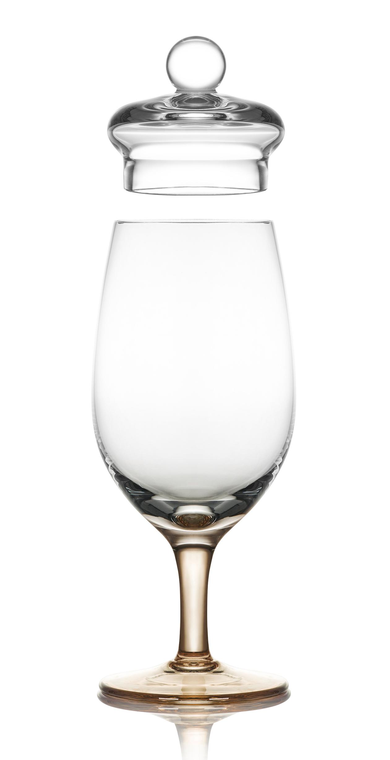 Amber Glass modèle G201 Verre de dégustation fabriqué à la main