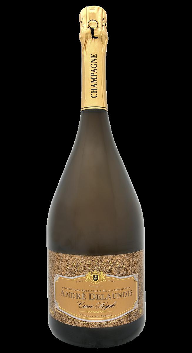 Magnum Champagne André Delaunois Cuvée Royale blanc AOP