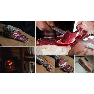 Lot charcuterie Corse et jambon artisanal U LUGO découpé sous-vide en bloc (Colis de 2,3kg)