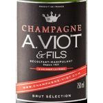 Etiquette champagne Viot @ Fils Brut sélection www.luxfood-shop.fr
