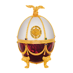 Vodka Imperial Gold Super Premium in egg Fabergé Pearl and ruby blanc et rouge www.luxfood-shop.fr