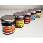 5 mini-pots de pâte à tartiner artisanale www.luxfood-shop.fr