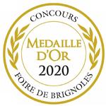 Medaille d OR 2020 au concours de la foire de Brignolespour l huile d olive de Corse L Aliva Marina www.luxfood-shop.fr