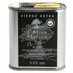 Huile d olive Corse Bidon métal en 175ml www.luxfood-shop.fr