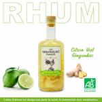 Rhum-Citron-Vert-Gingembre- Bio-Les-Arrangeurs-Français-www.luxfood-shop.fr