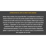 Appréciation du Jury sur les chips à la truffe noire Sarriegui www.luxfood-shop.fr