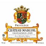 Château Maucoil Privilège Chateauneuf du Pape étiquette www.luxfood-shop.fr