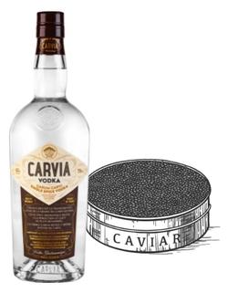 Vodka CARVIA et CAVIAR www.luxfood-shop.fr