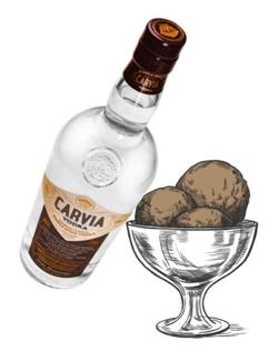 Vodka francaise CARVIA Carvi et glace www.luxfood-shop.fr