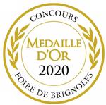 Medaille d' OR 2020 au concours de la foire de Brignolespour l' huile d' olive de Corse L' Aliva Marina www.luxfood-shop.fr