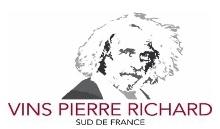 Logo Vins Pierre richard www.luxfood-shop.fr