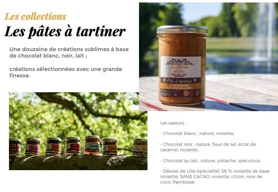 Collections pâtes à tartiner CDME www.luxfood-shop.fr