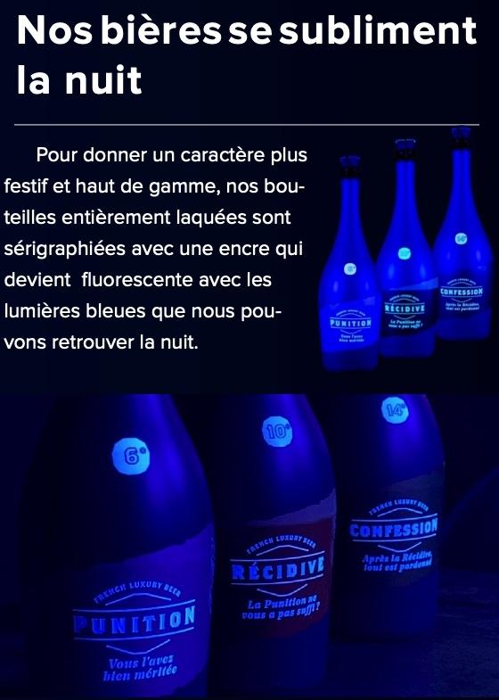 Bières Maison DB fluorescente la nuit www.luxfood-shop.fr