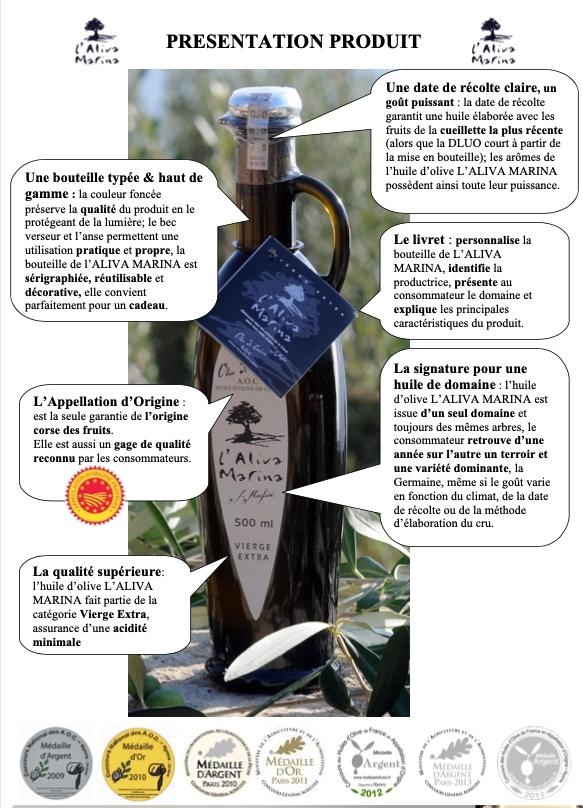Image huile d' olive Corse 2020  argumentaire wwww.luxfood-shop.fr