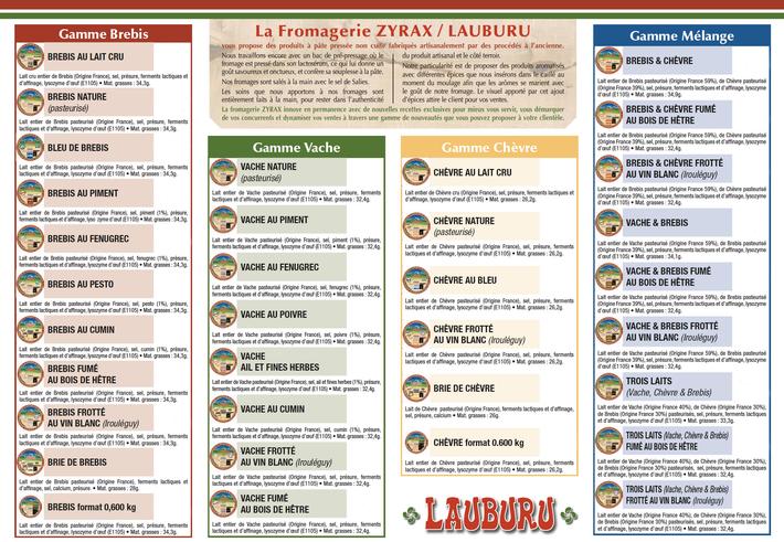 Fromagerie Lauburu - Zyrax-gamme produits-www.luxfood-shop.fr