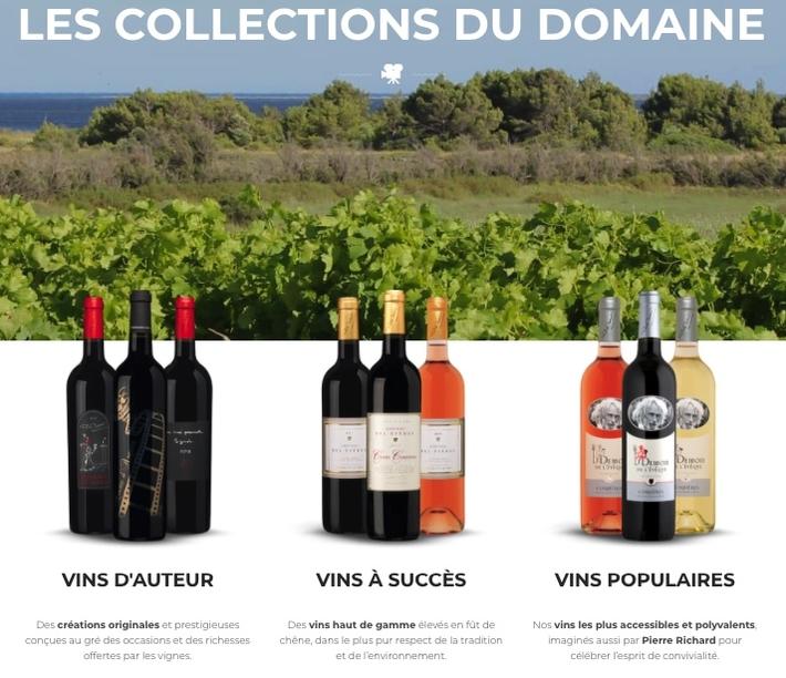 Collection Vins Pierre richard www.luxfood.fr