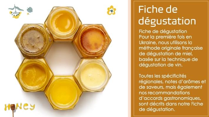 Fiche de dégustation Freères de Miel d' ukraine www.luxfood-shop.fr