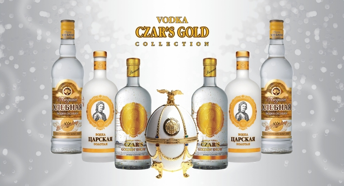 Vodka Collection Imperial Gold www.luxfood-shop.fr