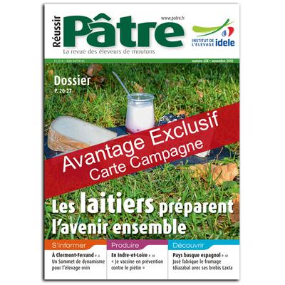 Réussir Pâtre - Avantage exclusif carte campagne