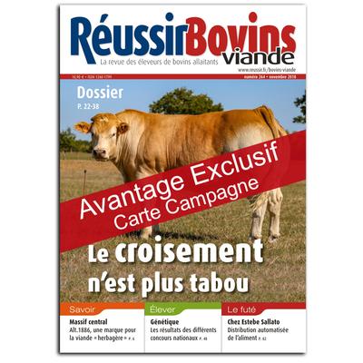 Réussir Bovins viande - Avantage exclusif carte campagne