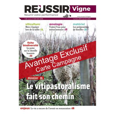 Réussir Vigne - Avantage exclusif carte campagne
