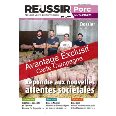 Réussir Porc - Avantage exclusif carte campagne