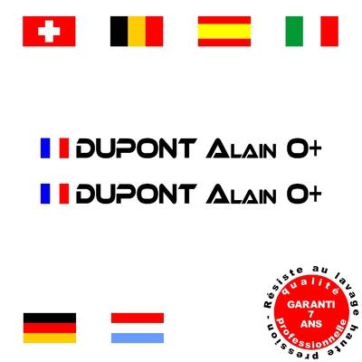 Stickers NOMS DE PILOTE ref A