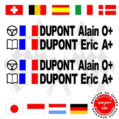 Stickers NOMS DE PILOTE ref B