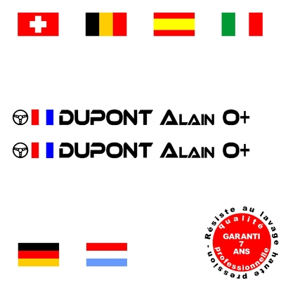 Stickers NOMS DE PILOTE ref F