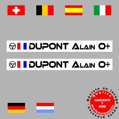 Stickers NOMS DE PILOTE ref G